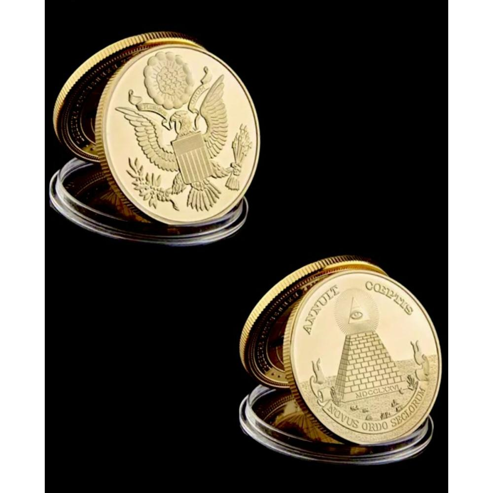 1oz Gold Clad Masonic Seeing Eye of Providence Coin