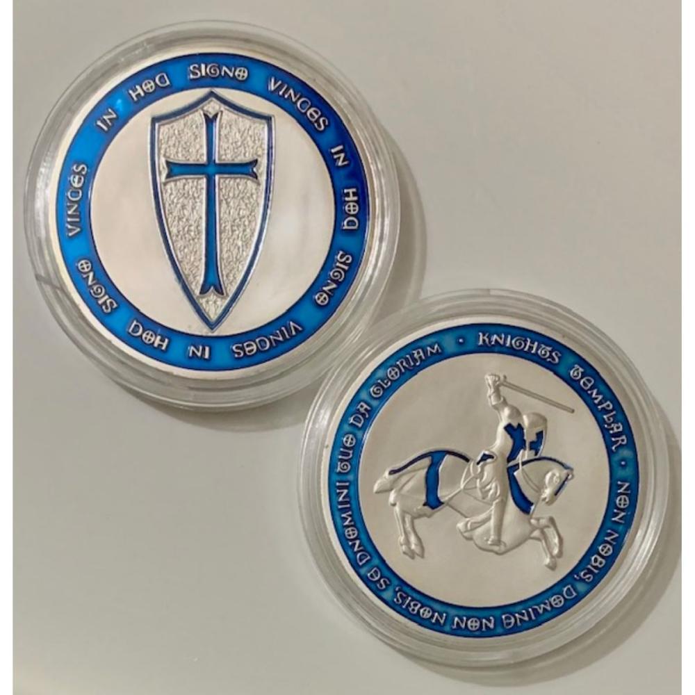 1oz Silver Clad Freemason Knights of Templar Coin