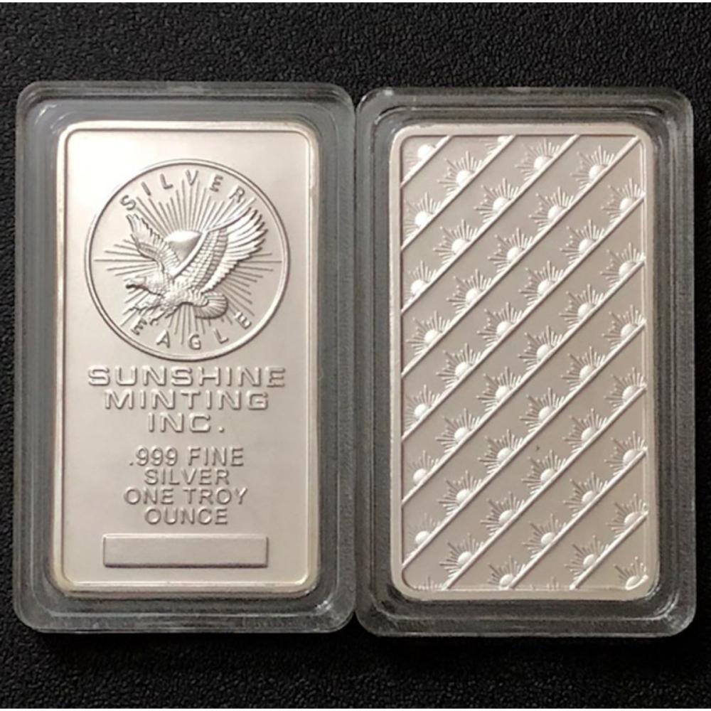 1oz SUNSHINE MINTING Encapsulated Silver Bar