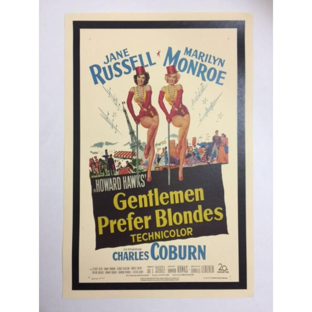MARILYN MONROE Gentlemen Prefer Blondes Movie Poster