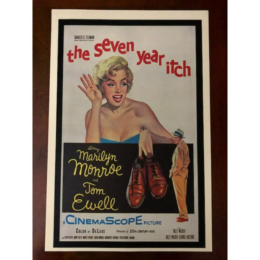 Iconic MARILYN MONROE Seven Year Itch Movie Poster