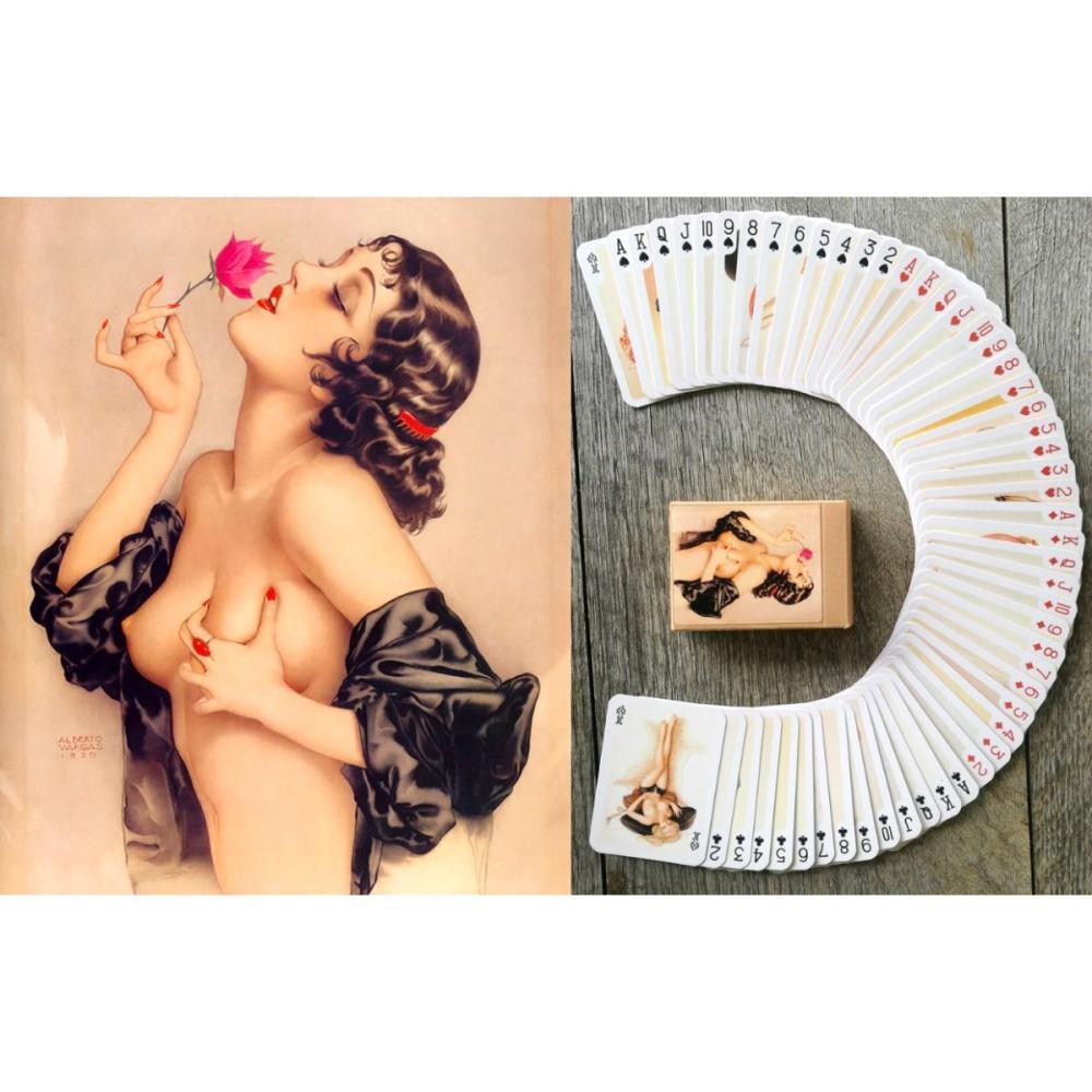 ALBERTO VARGAS Risque Pinup Girl Art Playing Cards Deck