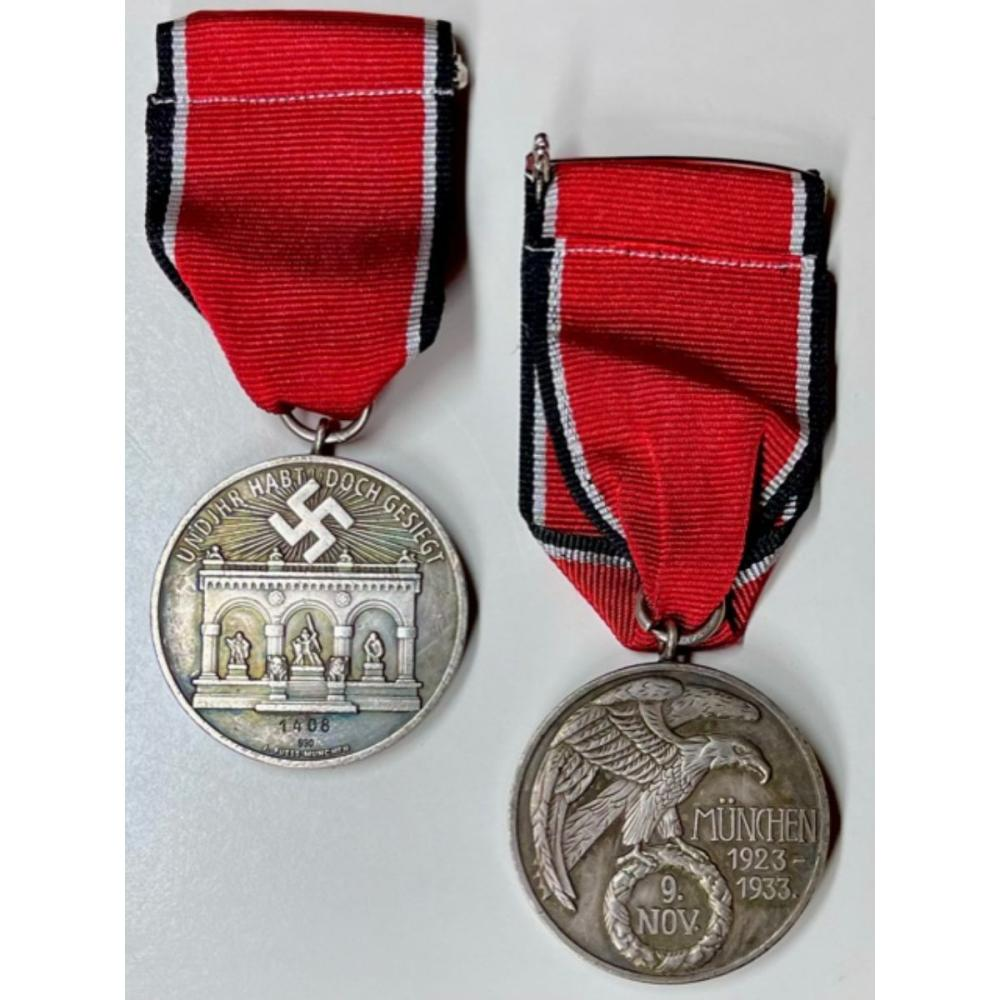 1923-1933 Nazi Germany Blood Order Medal with Ribbon