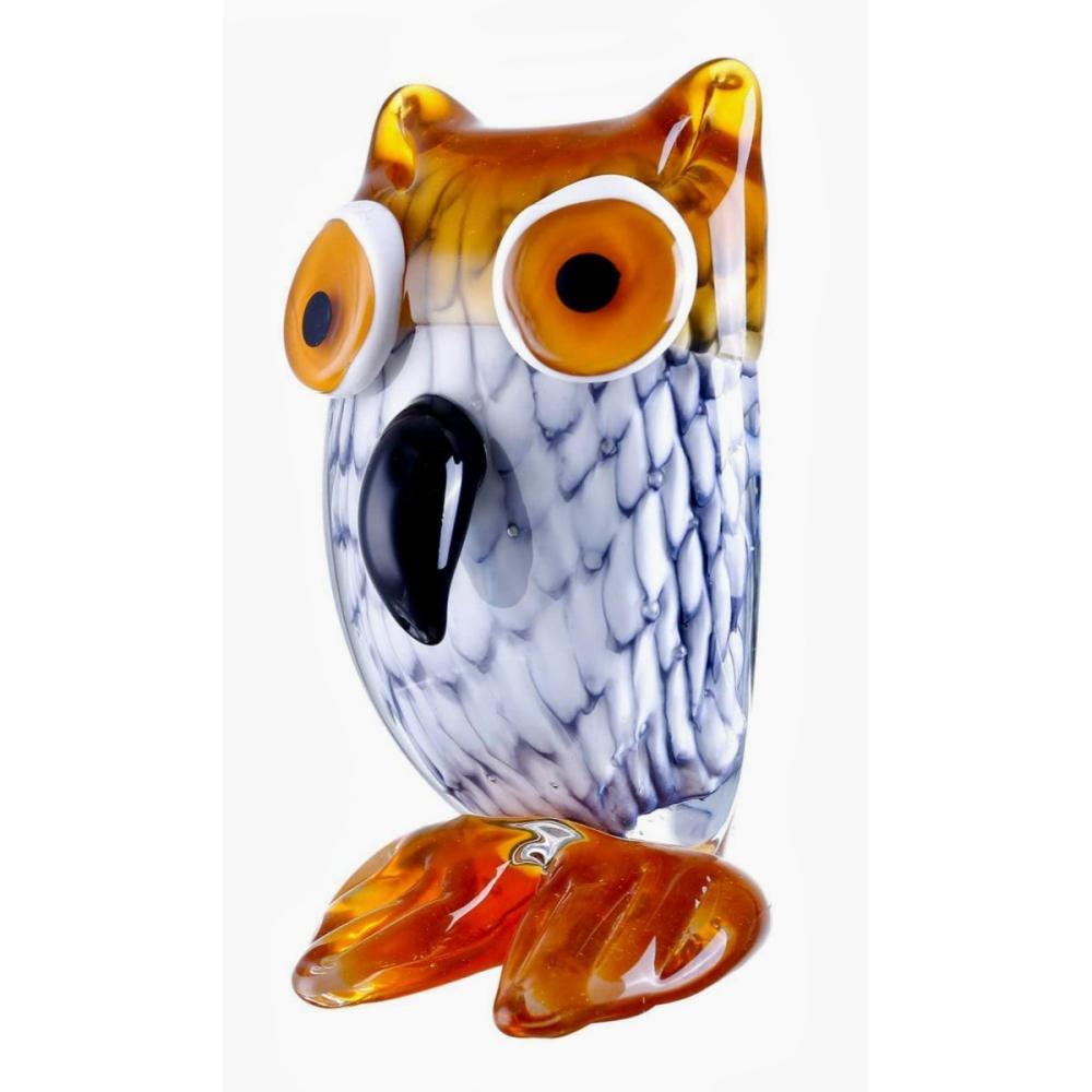 Hand Blown MURANO Studio Art Glass OWL