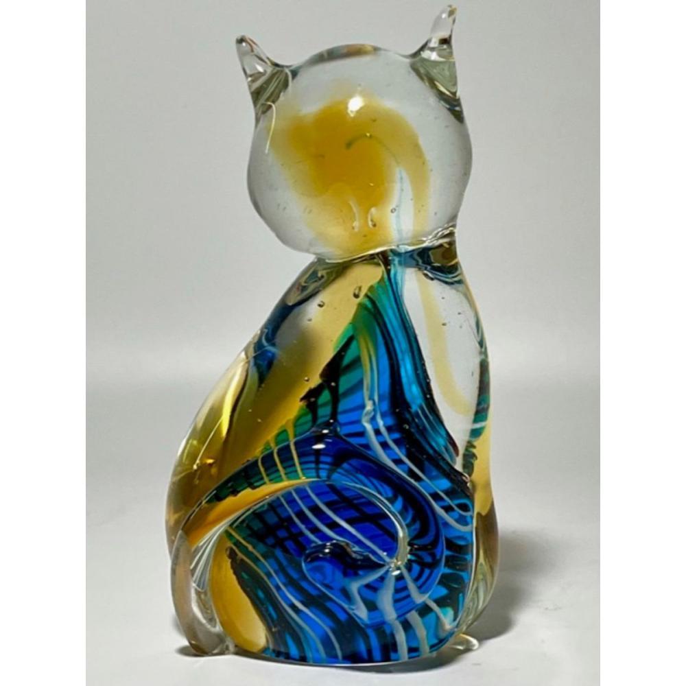 Gorgeous MURANO Art Glass Cat Sculpture