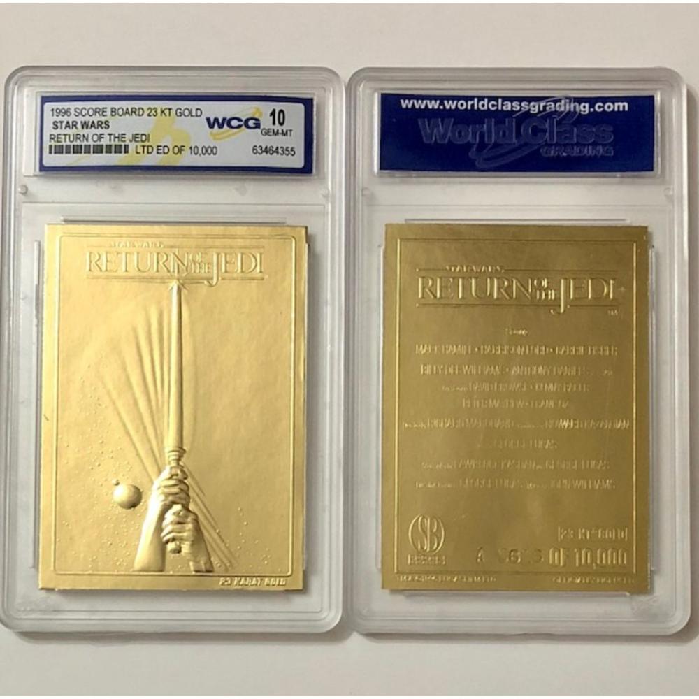 STAR WARS Return of the Jedi Embossed 23k Gold Card