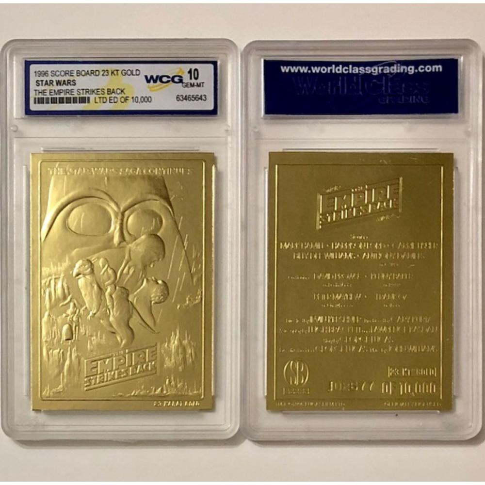 STAR WARS Empire Strikes Back Embossed 23k Gold Card