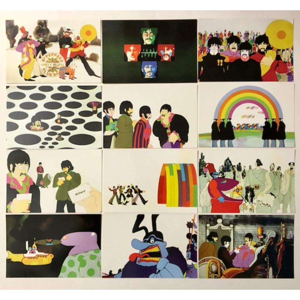 Lot of 36 The BEATLES Postcard Size Comic Image Cards/A