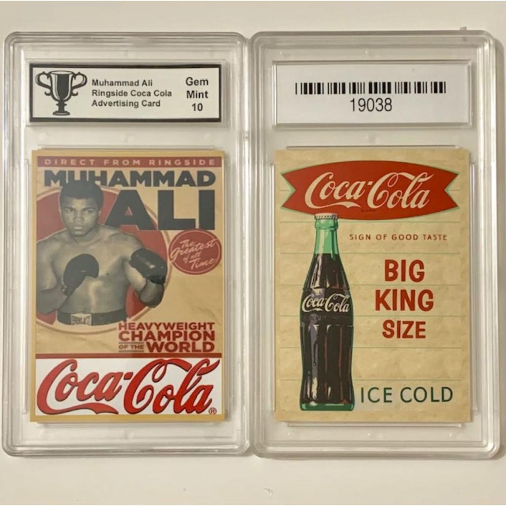 Muhammad Ali Gem 10 COCA-COLA Advertising Card