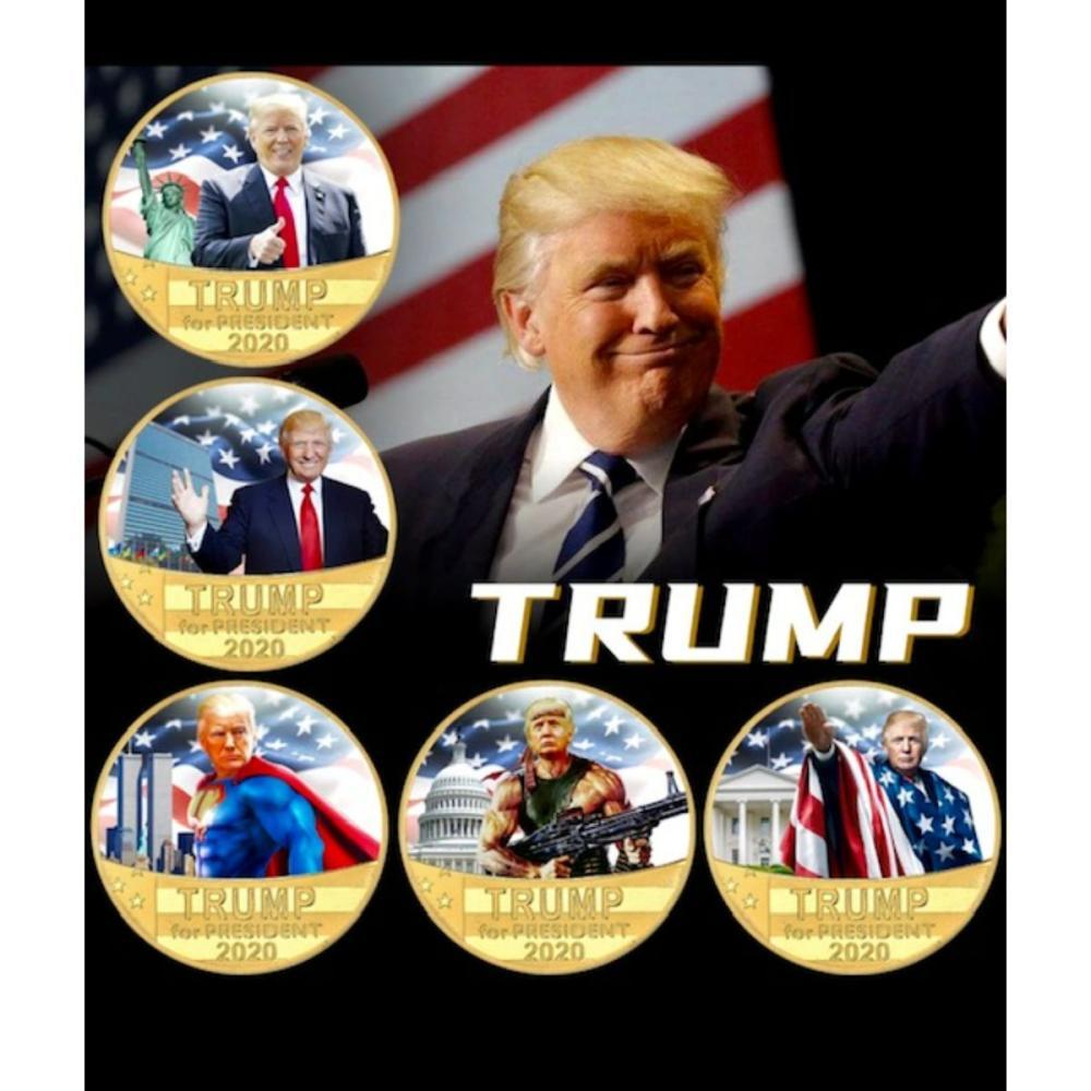 DONALD TRUMP 2020 Campaign Parody Clad Gold Coin Set
