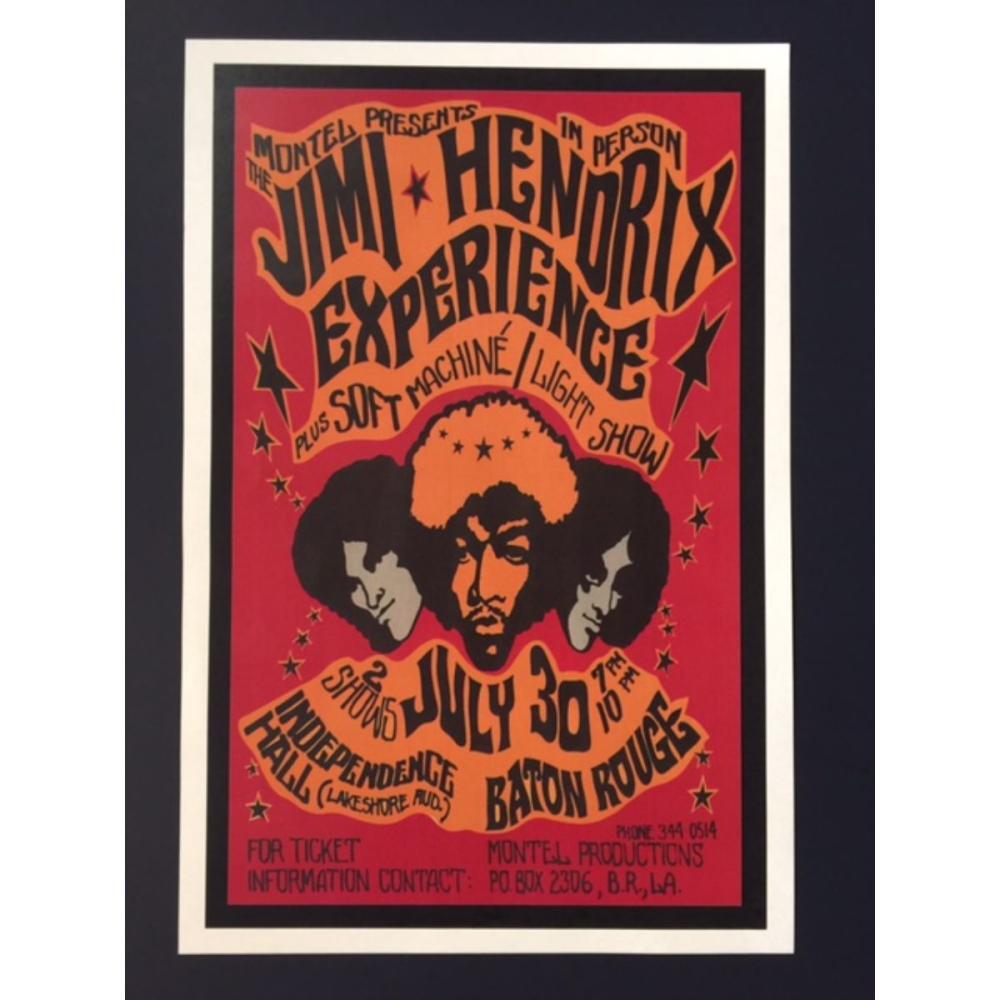 The JIMI HENDRIX Experience Baton Rouge Concert Poster