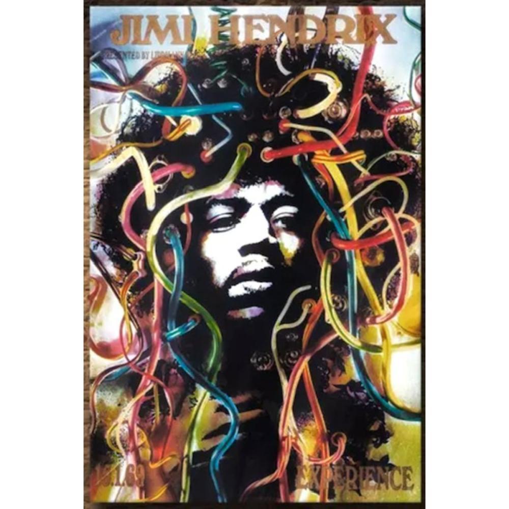Awesome JIMI HENDRIX Art on Canvas 16 x 20