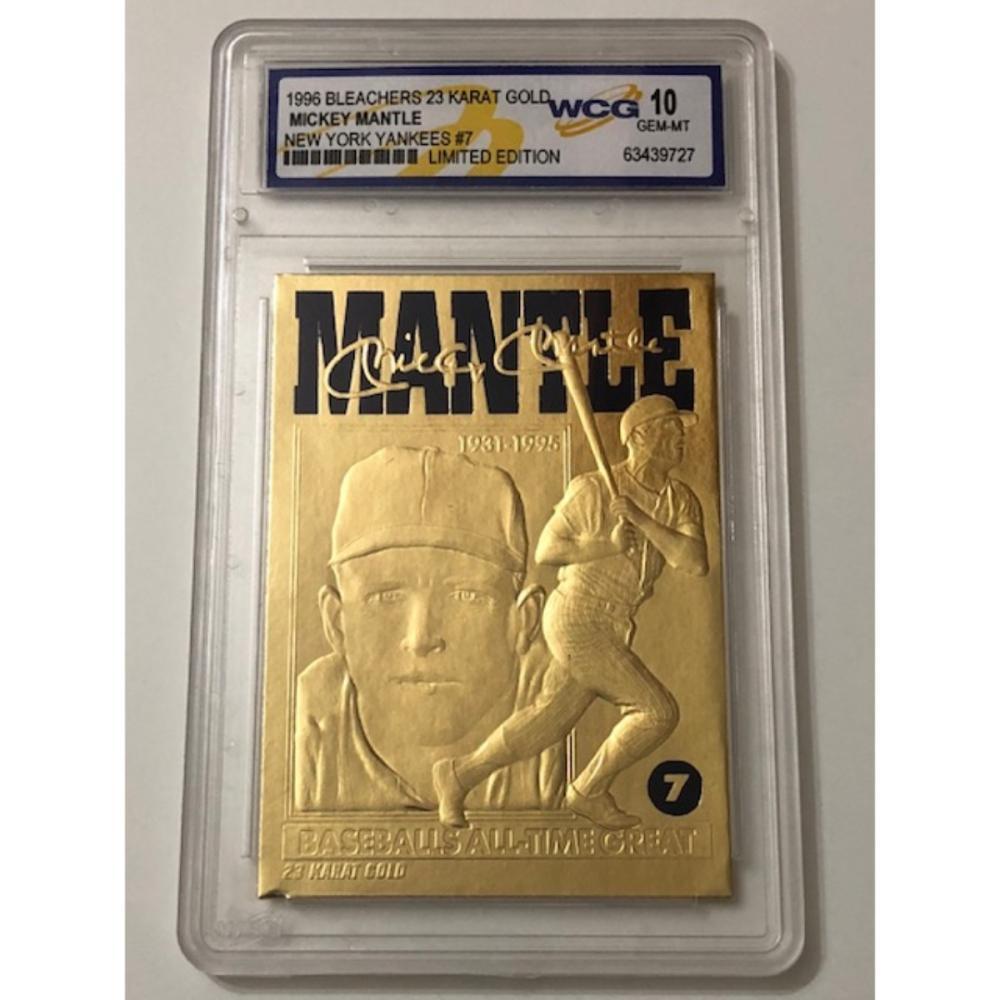 Gem 10 Limited Edition 23k Gold Mickey Mantle Baseball Card