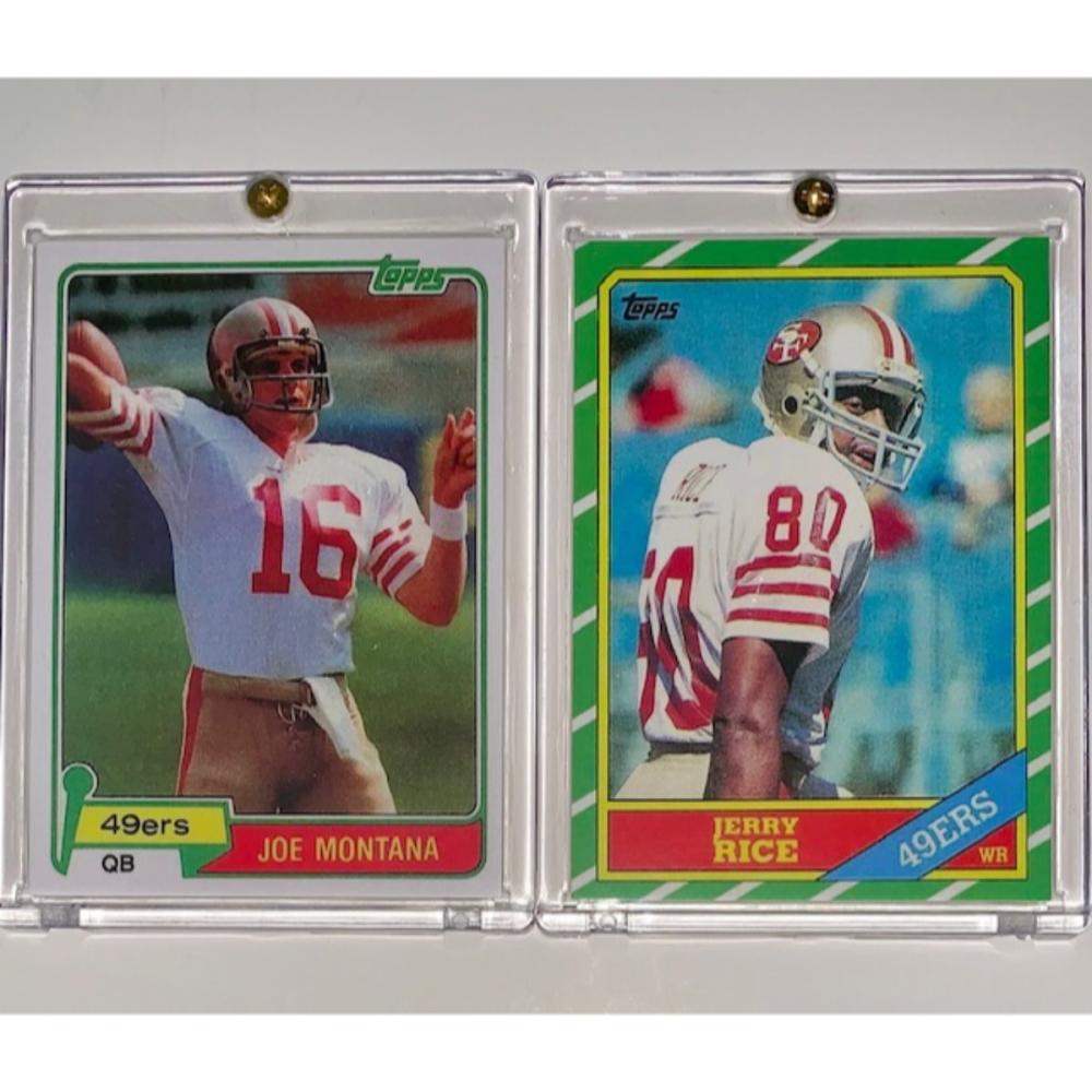 1981 Joe Montana 1986 Jerry Rice Topps Rookie Rp Football