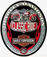 Authentic HARLEY DAVIDSON Embossed Metal Sign by Ande Rooney