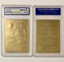 Original STAR WARS Movie 23kt Gold Foil Trading Card