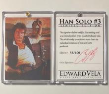 Star Wars HAN SOLO Artist Hand Signed LTD. Edition Sketch Card
