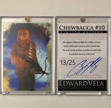 Star Wars CHEWBACCA Artist Hand Signed LTD. Edition Sketch Card