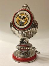 Vintage Licensed HARLEY DAVIDSON Motorcycle Pocket Watch with Stand