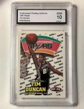 Gem Mint 10 TIM DUNCAN Rookie Basketball Card