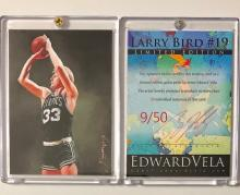 LARRY BIRD Hand Signed by Artist Limited Edition Sketch Card