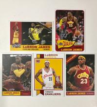 Lot of 5 LEBRON JAMES Rookie & Promo Basketball Cards