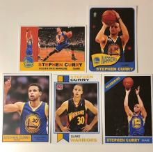 Lot of 5 STEPHEN CURRY Rookie & Promo Basketball Cards