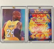KOBE BRYANT Hand Signed by Artist Limited Edition Sketch Card