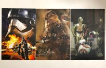 Lot of 3 Limited Edition STAR WARS Movie Lithographs