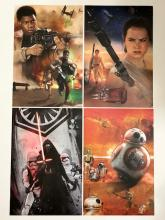 Lot of 4 Limited Edition STAR WARS Movie Lithographs