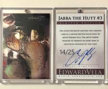 Star Wars JABBA the HUTT Artist Hand Signed LTD. Edition Sketch Card