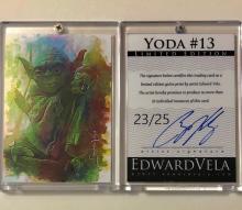 Star Wars YODA Artist Hand Signed Limited Edition Sketch Card