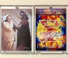 Star Wars DARTH VADER Artist Hand Signed LTD. Edition Sketch Card