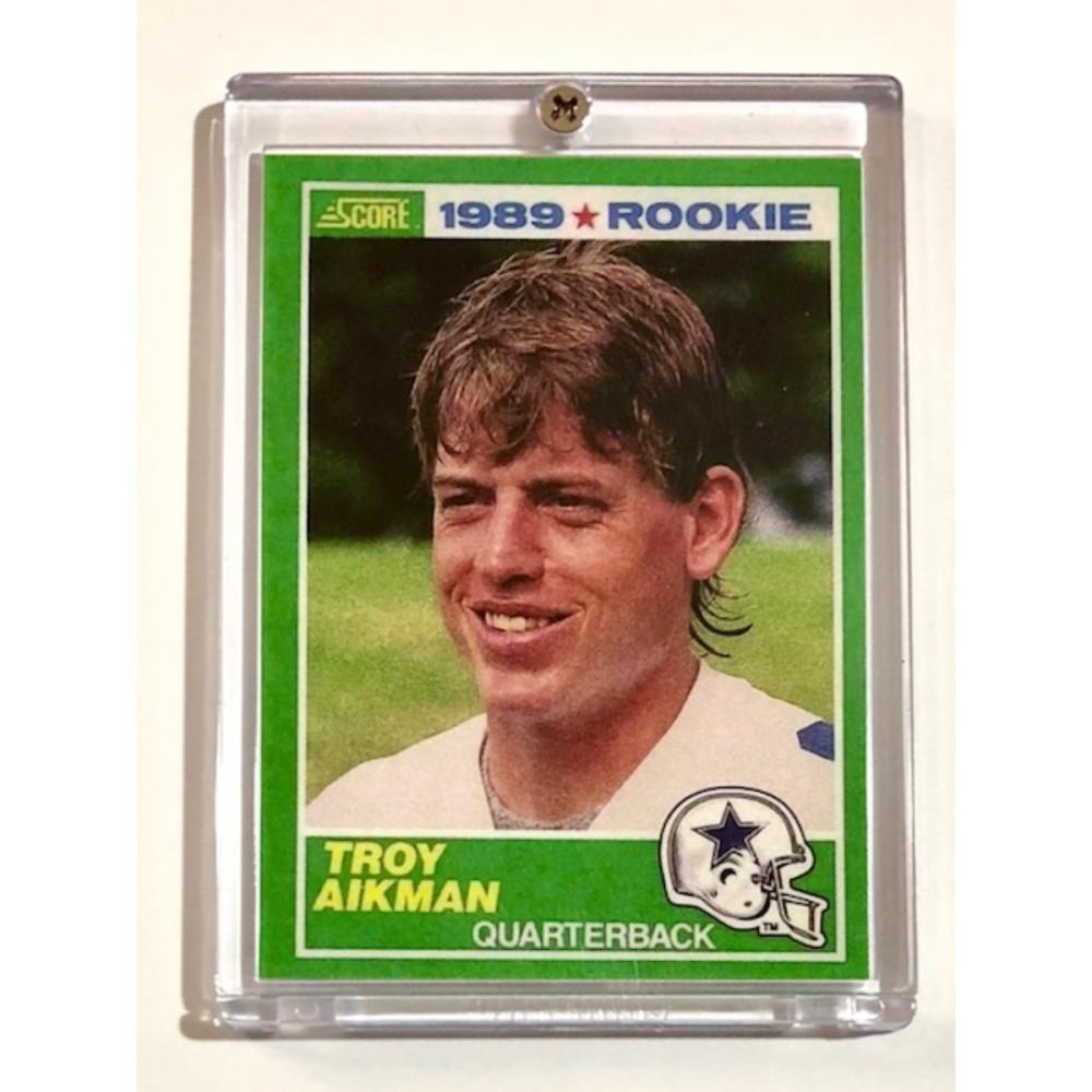 1989 Score Troy Aikman 1st Rookie Football Card