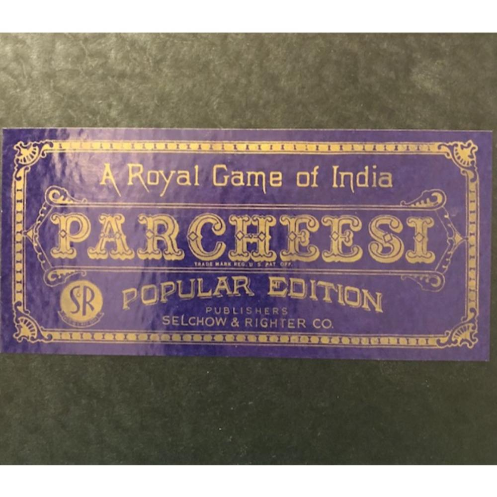 Rare 1946 PARCHEESI Royal Game of India Board Game in Beauti