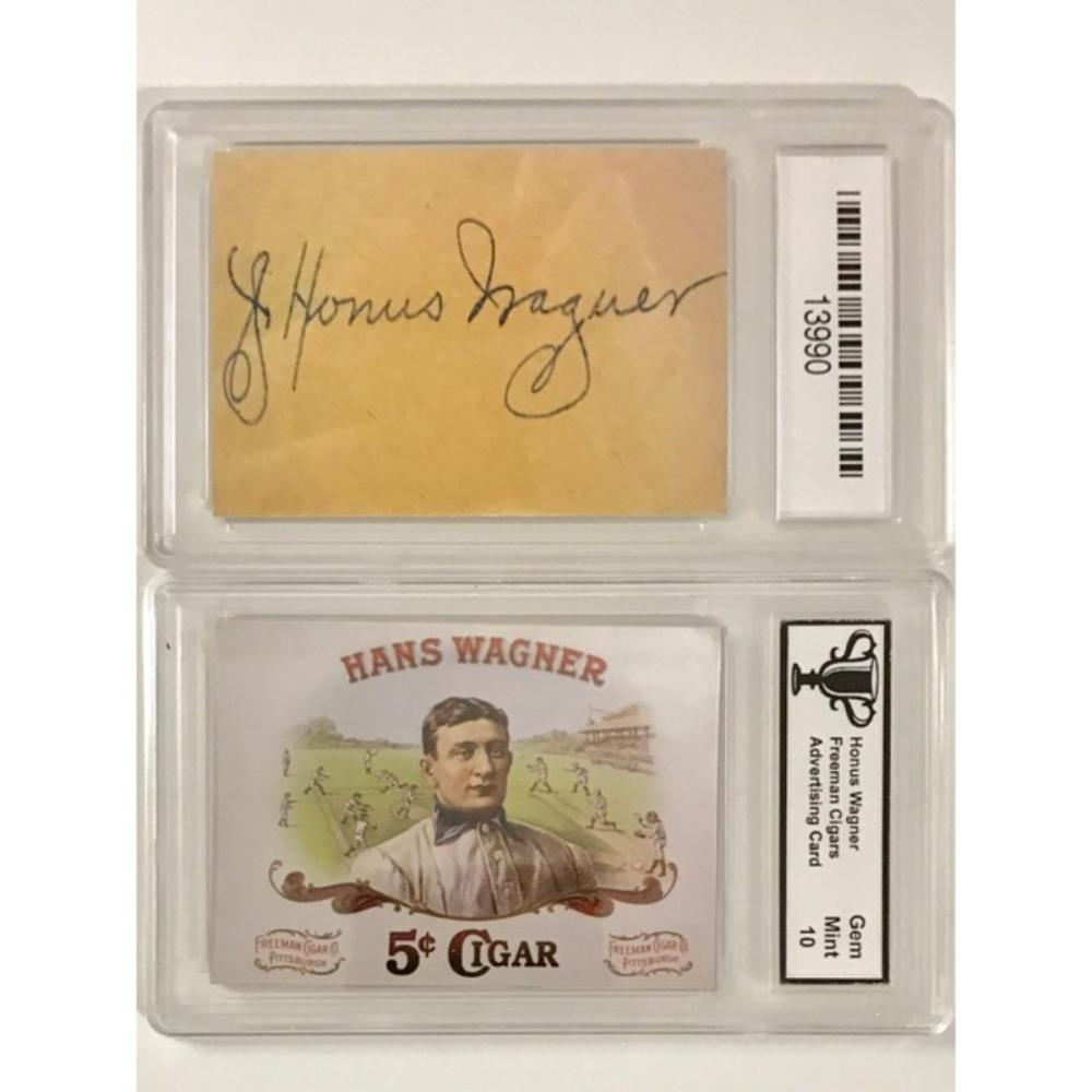 Gem 10 Honus Wagner Advertising Baseball Card