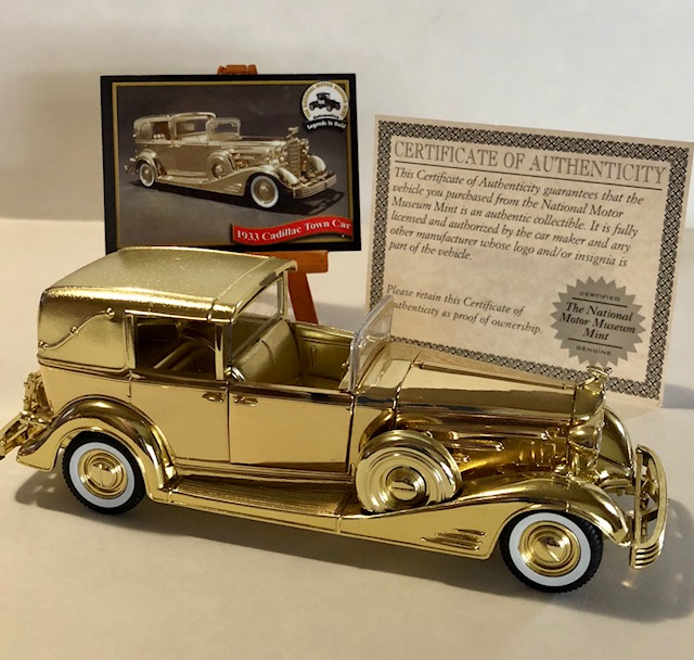 National Motor Museum 24k Gold Plated Antique Car