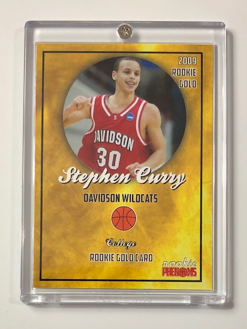 2009 Steph Curry Rookie Gold Phenoms Basketball Card
