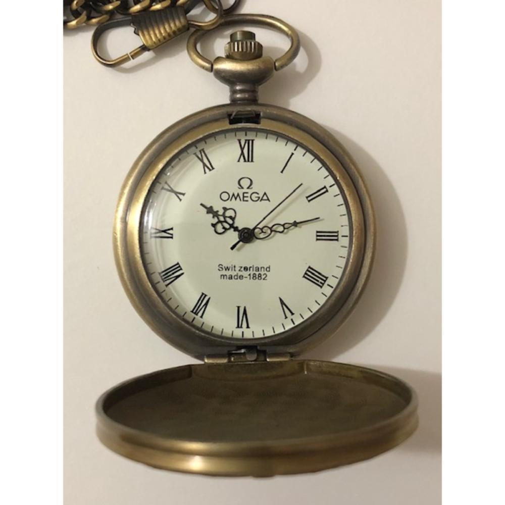 Unique Working Swiss OMEGA Mechanical Pocket Watch