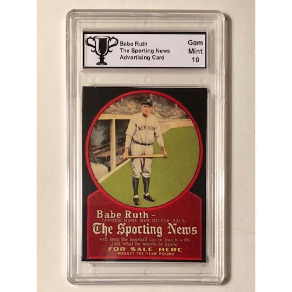 Babe Ruth Sporting News Advertising Baseball Card