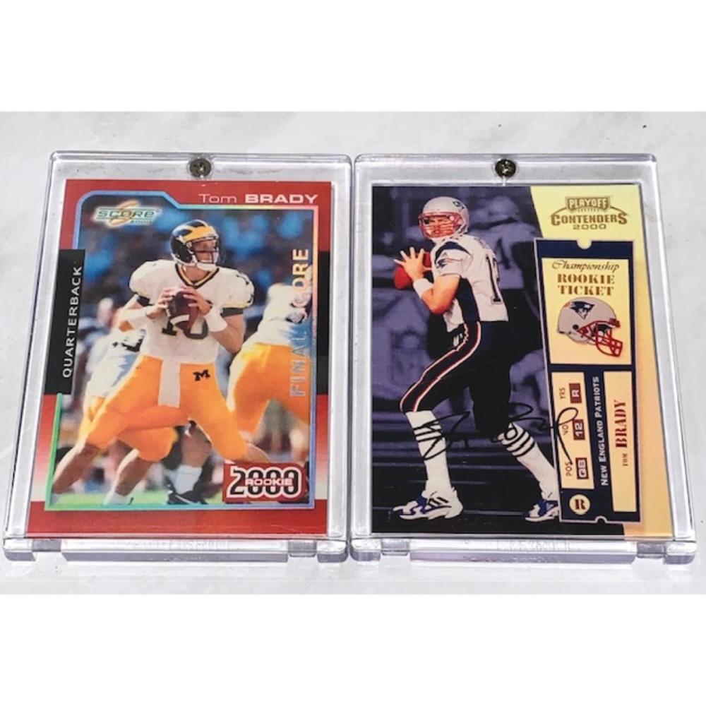 Lot Of 2 Mint Tom Brady Rookie Rp Football Cards