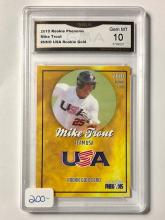 Gem 10 MIKE TROUT Team USA Gold Phenoms Rookie Baseball Card
