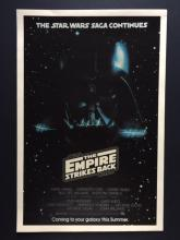 1980 STAR WARS Empire Strikes Back Movie Lobby Card Poster