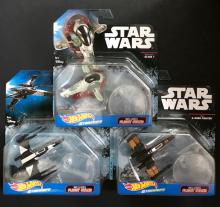Lot of 3 STAR WARS Sealed Die-Cast Starships by HOT WHEELS