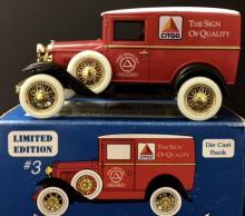Vintage CITGO Gas Die-Cast Antique Car Coin Bank w/Box