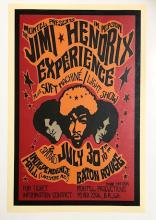 JIMI HENDRIX Baton Rouge LA Concert Poster