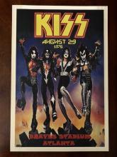KISS Braves Stadium Atlanta Concert Poster