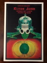ELTON JOHN Live Pacific Coliseum Concert Poster