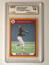 Gem Mint 10 BARRY BONDS College Rookie Baseball Card