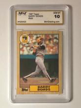 Gem Mint 10 BARRY BONDS Topps Rookie Baseball Card